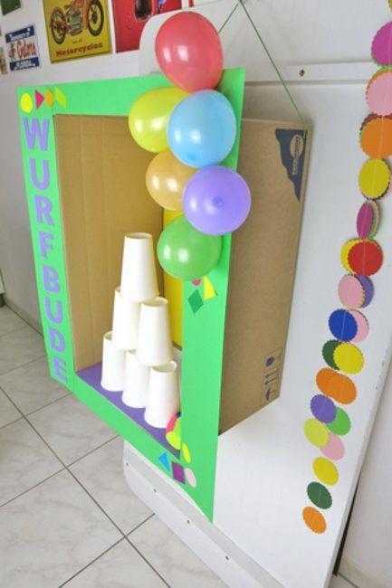 1 2 3 Fertig Ist Die Selbstgebaute Wurfbude Familie De In 2020 Kinder Geburtstag Spiele Diy Kindergeburtstag Kindergeburtstag Spiele