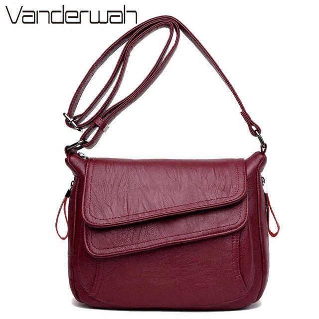 b619a1b7824 Luxury Leather Women Handbag Shoulder Bag Purse Messenger  fashion   clothing  shoes  accessories