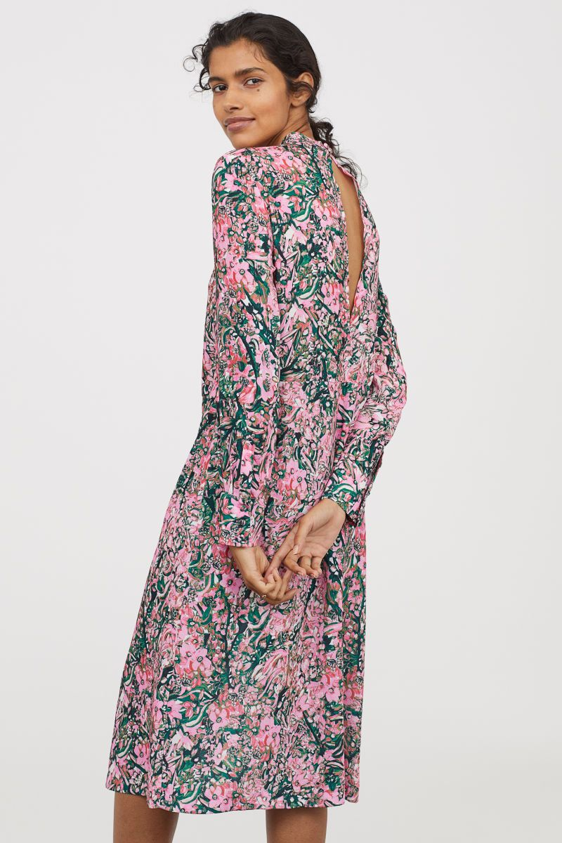 competitive price 08c02 aa4a5 Wadenlanges Kleid | Rosa/Geblümt | DAMEN | H&M DE | Fashion ...