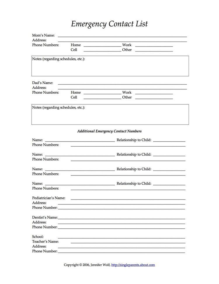Free Printable Forms For Single Parents  Free Printable