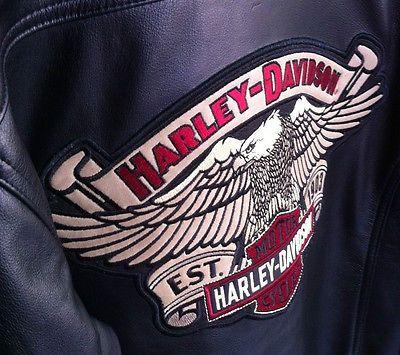 Giacca Giubbotto Bomber uomo vera pelle taglia S Harley Davidson ORIGINALE HD