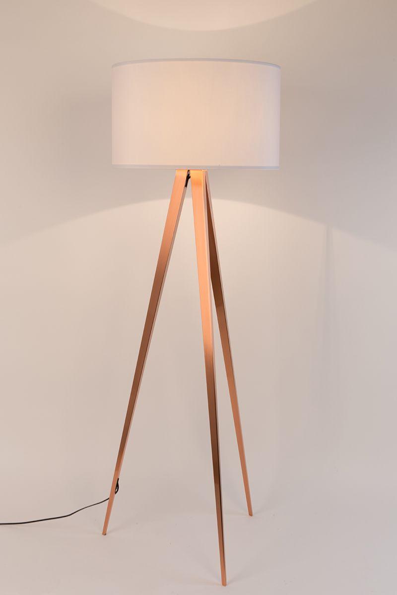 Tripod Copper Floor Lamp Zuiver Woo Design Copper Floor Lamp Floor Lamp Lamp