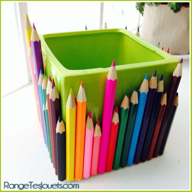 Pot crayons cadeau de fin d 39 ann e pour l 39 cole - Idee cadeau deco maison ...