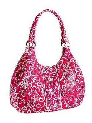 f7ee286d00 New Vera Bradley Large Hobo Twirly Birds Pink