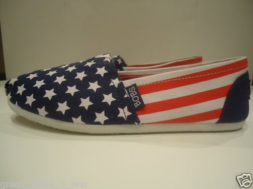 Skechers Bobs Women's USA American Flag Shoes Brand New Sz 6