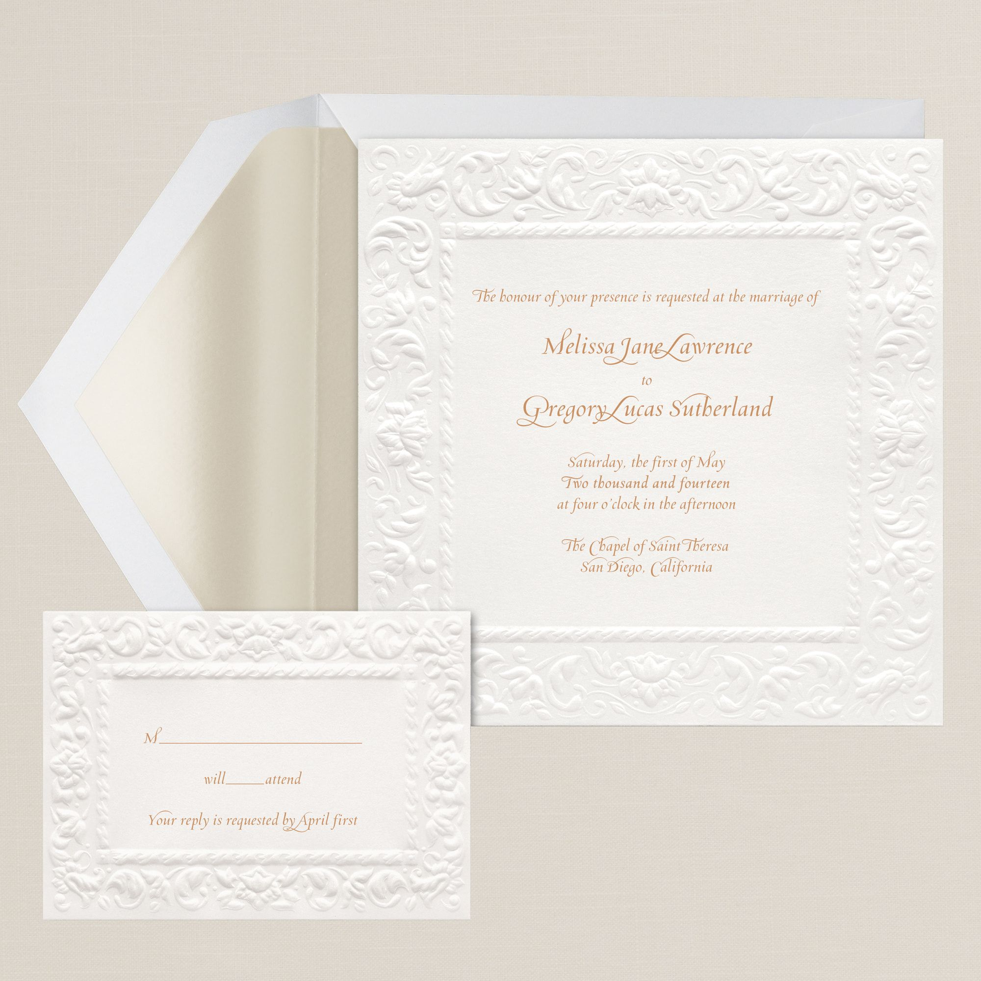 Old World Elegance: Old World Elegance Wedding Invitation