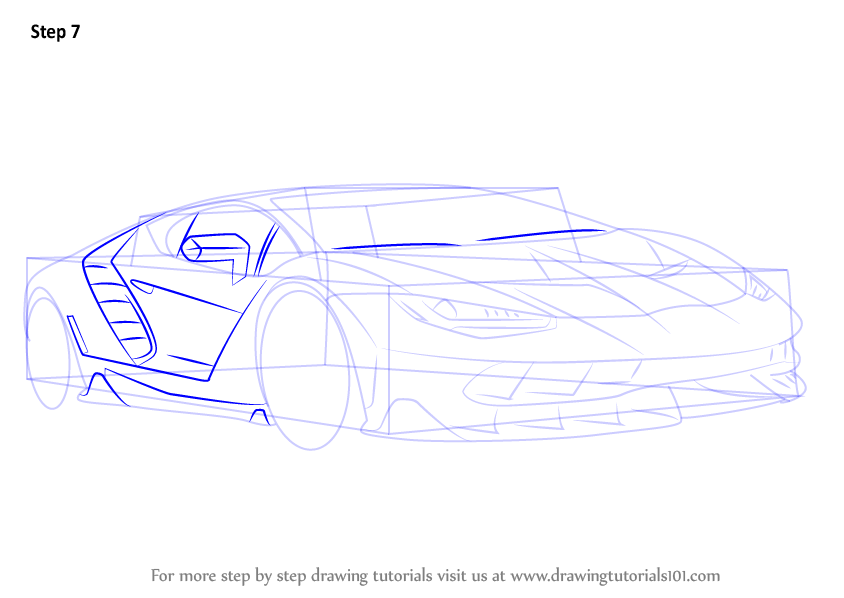 Learn How To Draw Lamborghini Centenario Sports Cars Step By Step Drawing Tutorials Lamborghini Centenario Drawings Lamborghini