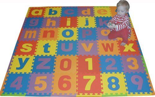 We Sell Mats Lowercase 36 Sq Ft Alphabet And Number Floor Puzzle Each Tile 12 X12 X 375 Thick With Borders By We Lowercase A Floor Puzzle Foam Floor Tiles