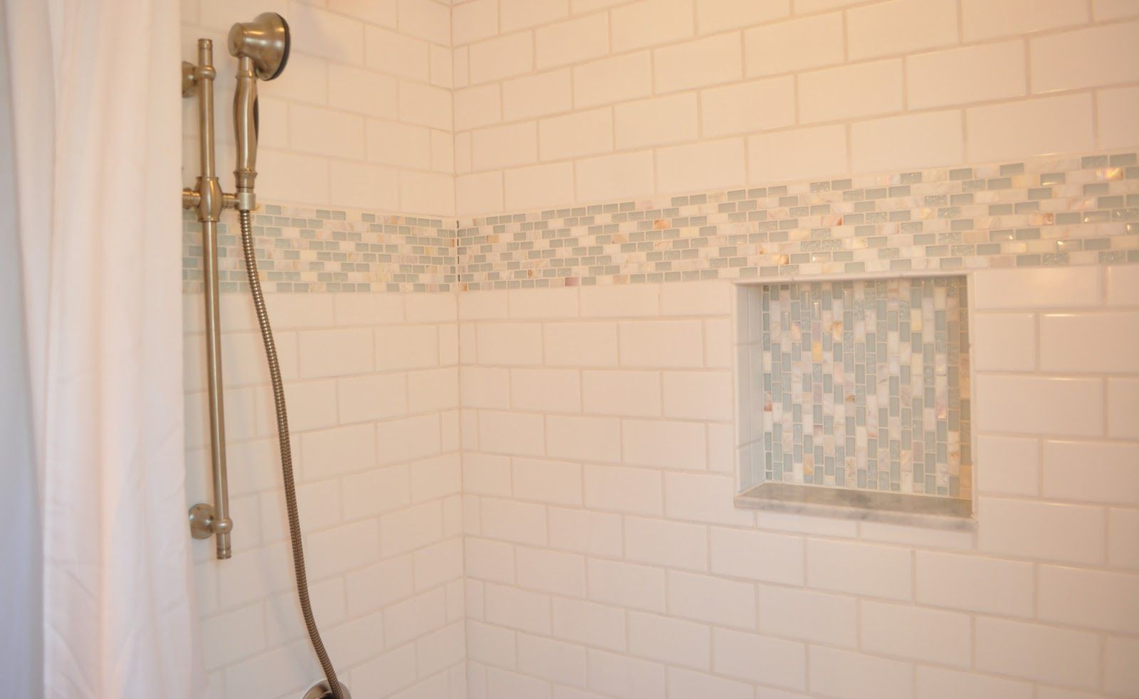Tile Decoration White Mosaic Subway Backsplash · Impressive Room Interior Wall
