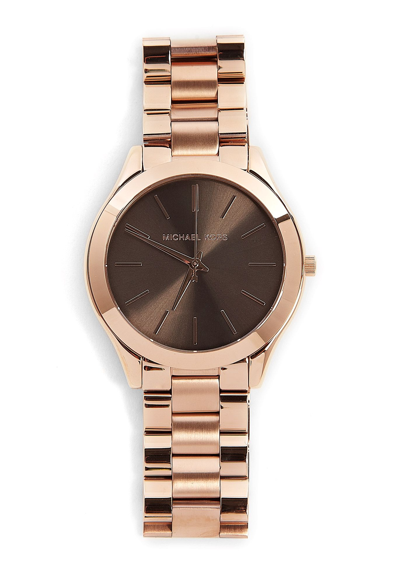 Rose Gold Watch With Espresso Face By Michael Kors Watches 227 Michael Kors Watch Rose Gold Michael Kors Michael Kors Watch