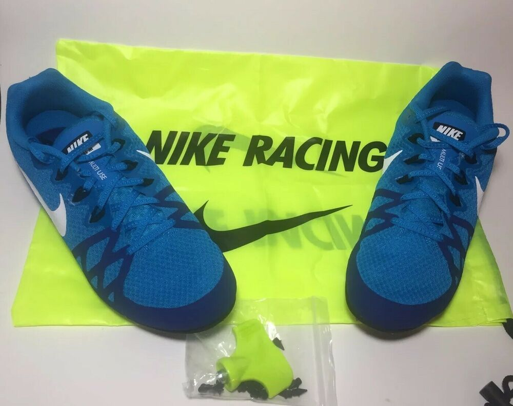 best sneakers cc4f2 2160f Nike Zoom Rival M8 Blue Track Sprint Spikes Men s Size 10.5 -w  Bag 806555