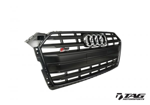 S5 Black Optics Front Grille (Shown WITH Plate Holder