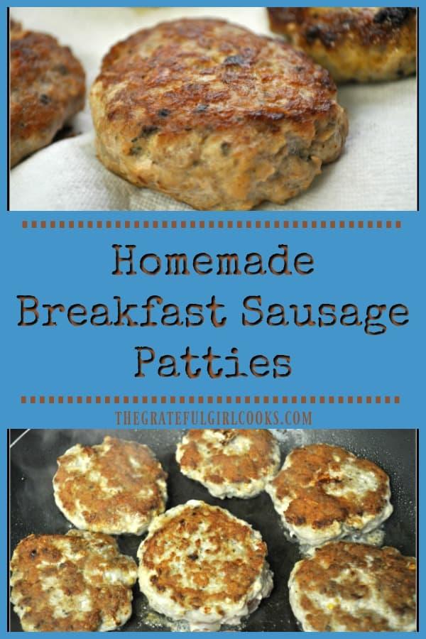 Homemade Breakfast Sausage Patties / The Grateful Girl Cooks