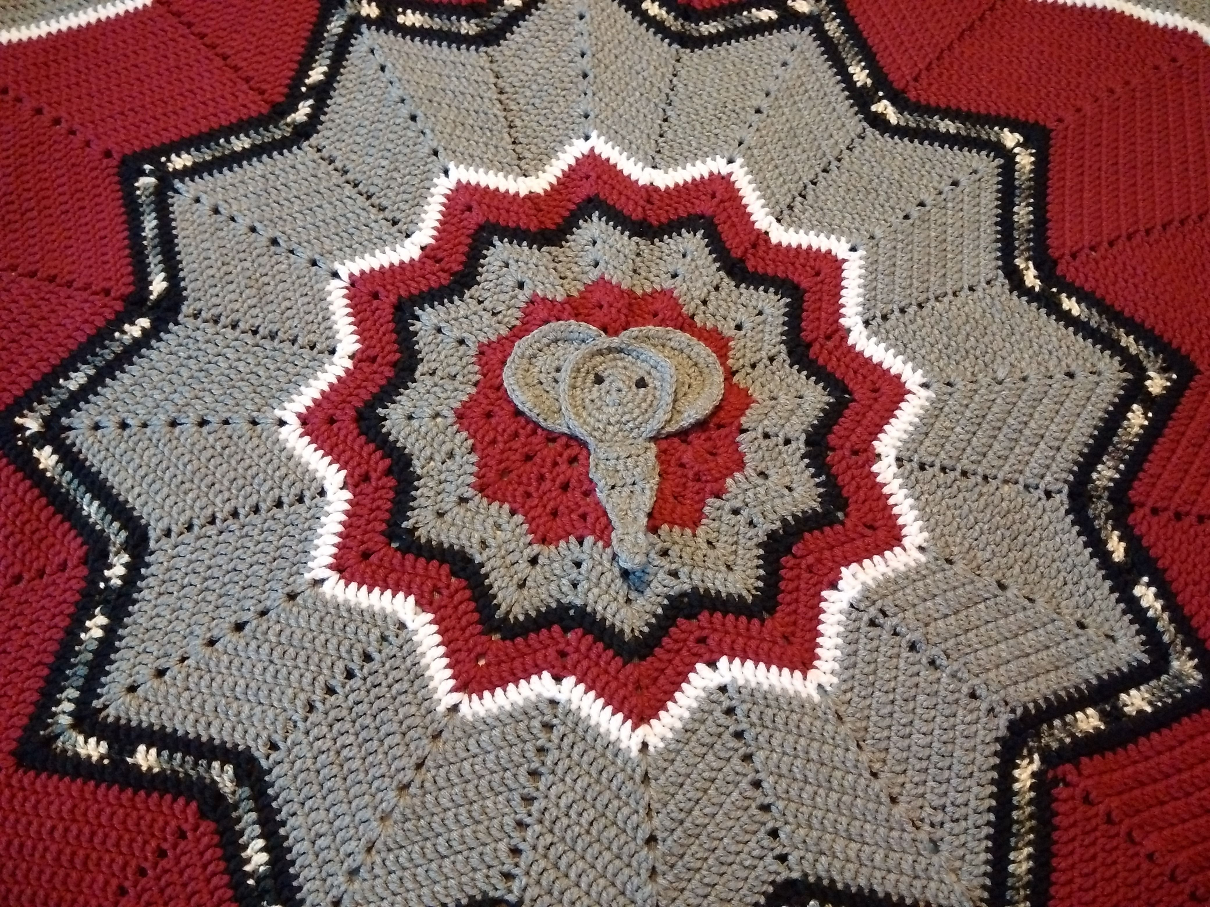 Alabama crochet baby blanket | Football | Pinterest