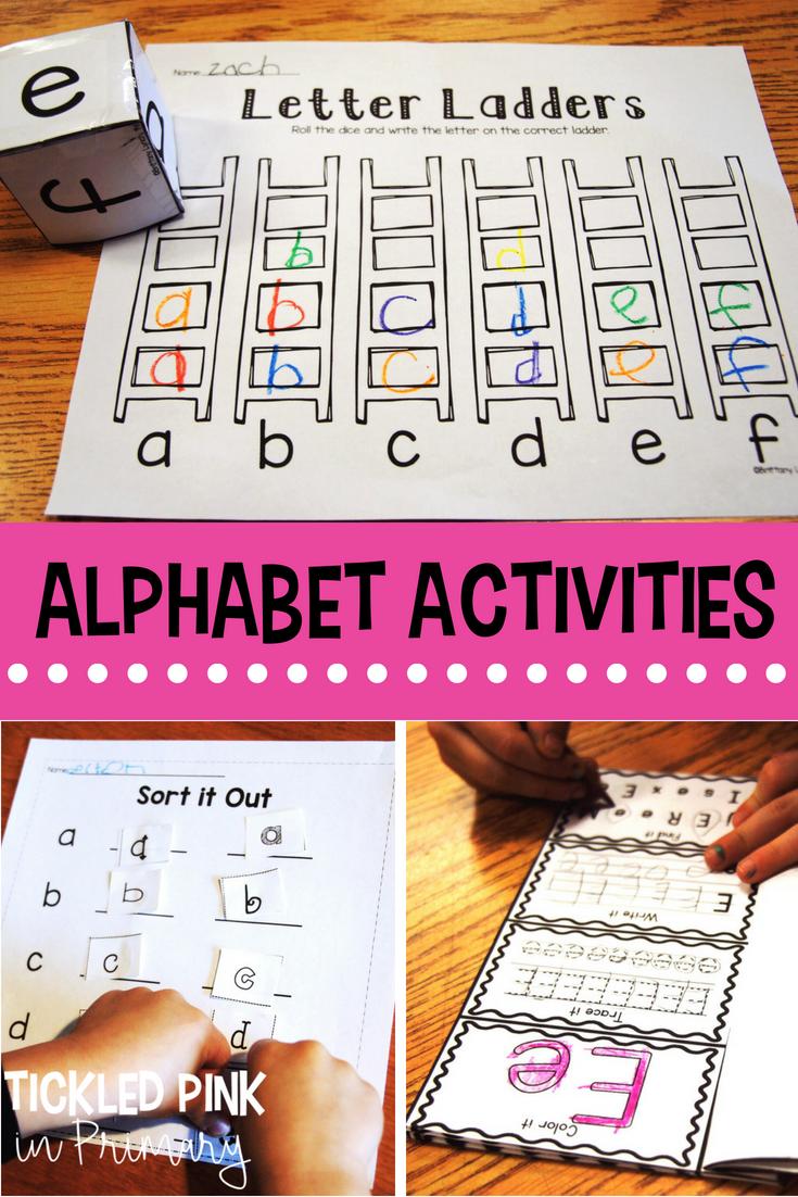 Alphabet Letter Activities (Low-Prep) | Centers | Pinterest | Kind
