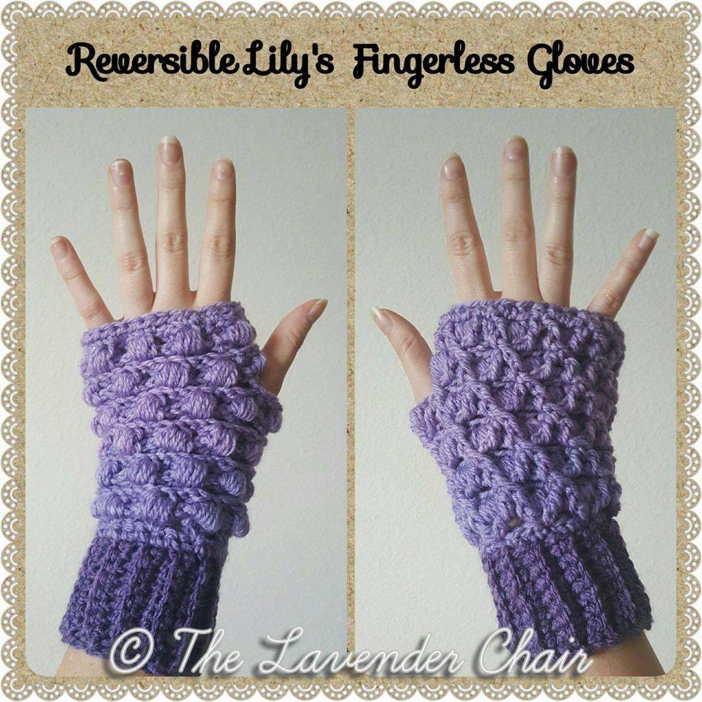 Reversible lilys fingerless gloves crochet pattern the lavender reversible lilys fingerless gloves crochet pattern bankloansurffo Images