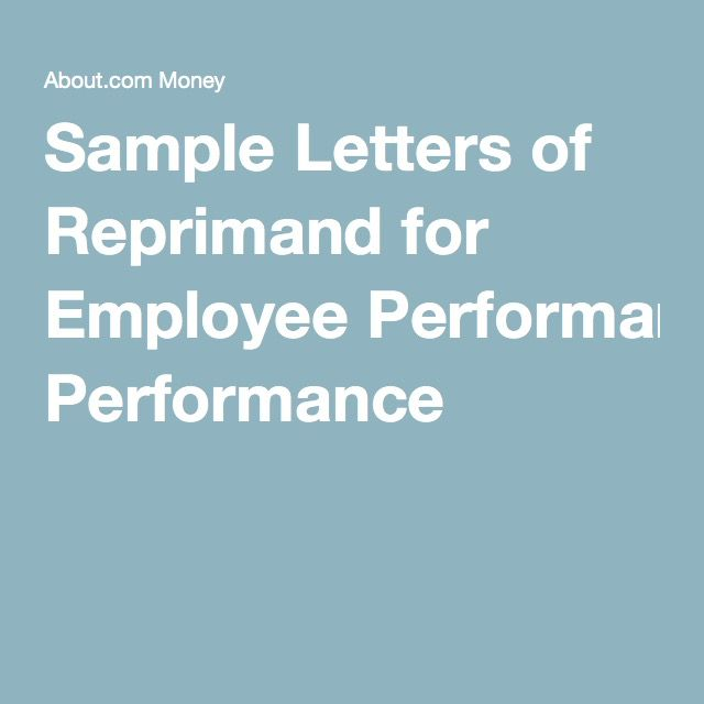 Use These Samples to Write a Formal Employee Reprimand Letter Work