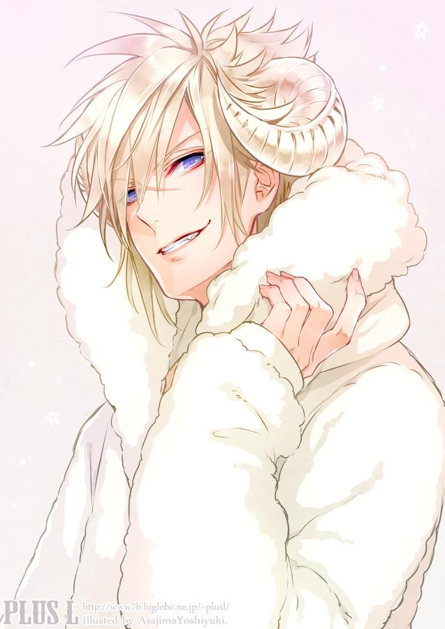 anime boy, smile, horn Anime Boy Pinterest Horn