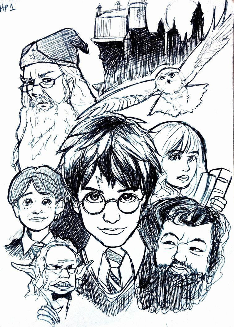 Coloring Pages Of Hermione Granger From Harry Potter And The Sorcerer S Stone For Kids Harry Potter Sketch Harry Potter Artwork Harry Potter Drawings