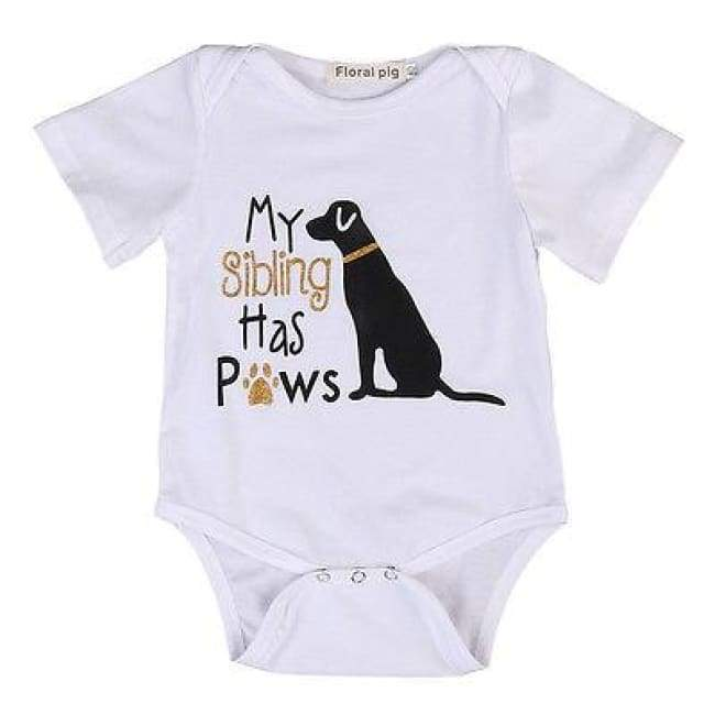Newborn Infant Dog House Cat Short Sleeve Romper Onesie Bodysuit Jumpsuit