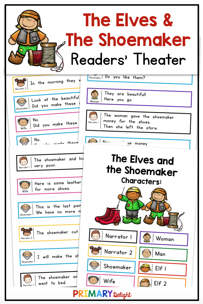 The Elves And The Shoemaker Makes A Fun Readers Theater Script For Beginning Readers The Color Coded Readers Theater First Grade Reading Teaching Elementary [ 1290 x 862 Pixel ]