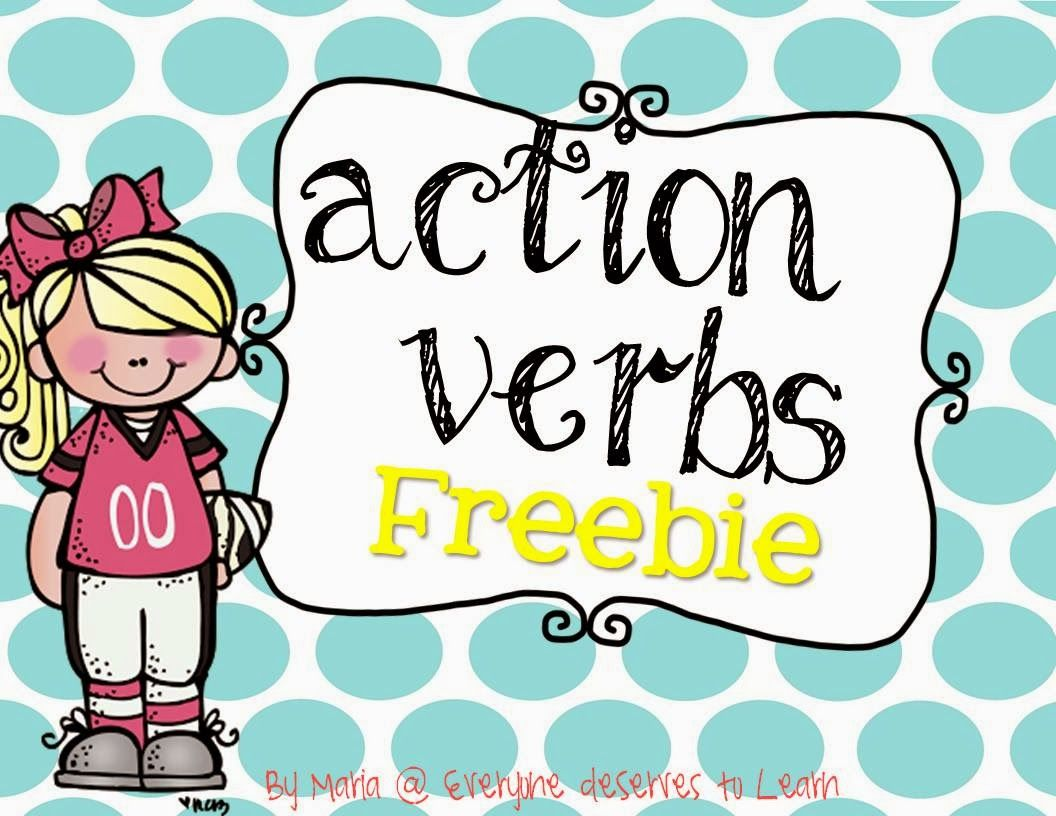 Action Verbs Interactive Notebook Freebie