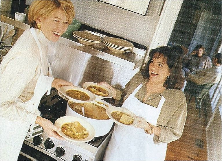 martha stewart at ina gartens for brunch in 1993 - Cooking Contessa