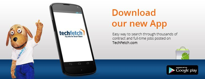 Download free TechFetch mobile app to search tech jobs in