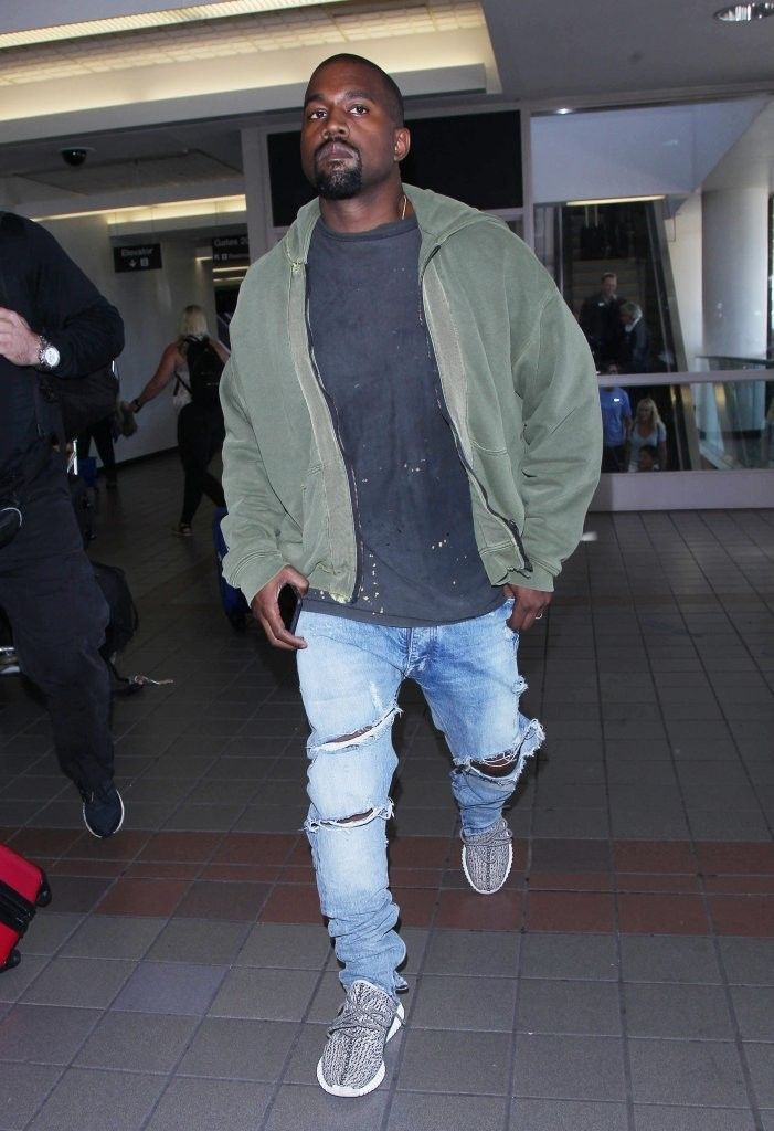 Fear Of God Distressed Jeans Streetwear Jeans Kanye Fearofgod Kanye Fashion Kanye West Style Streetwear Fashion