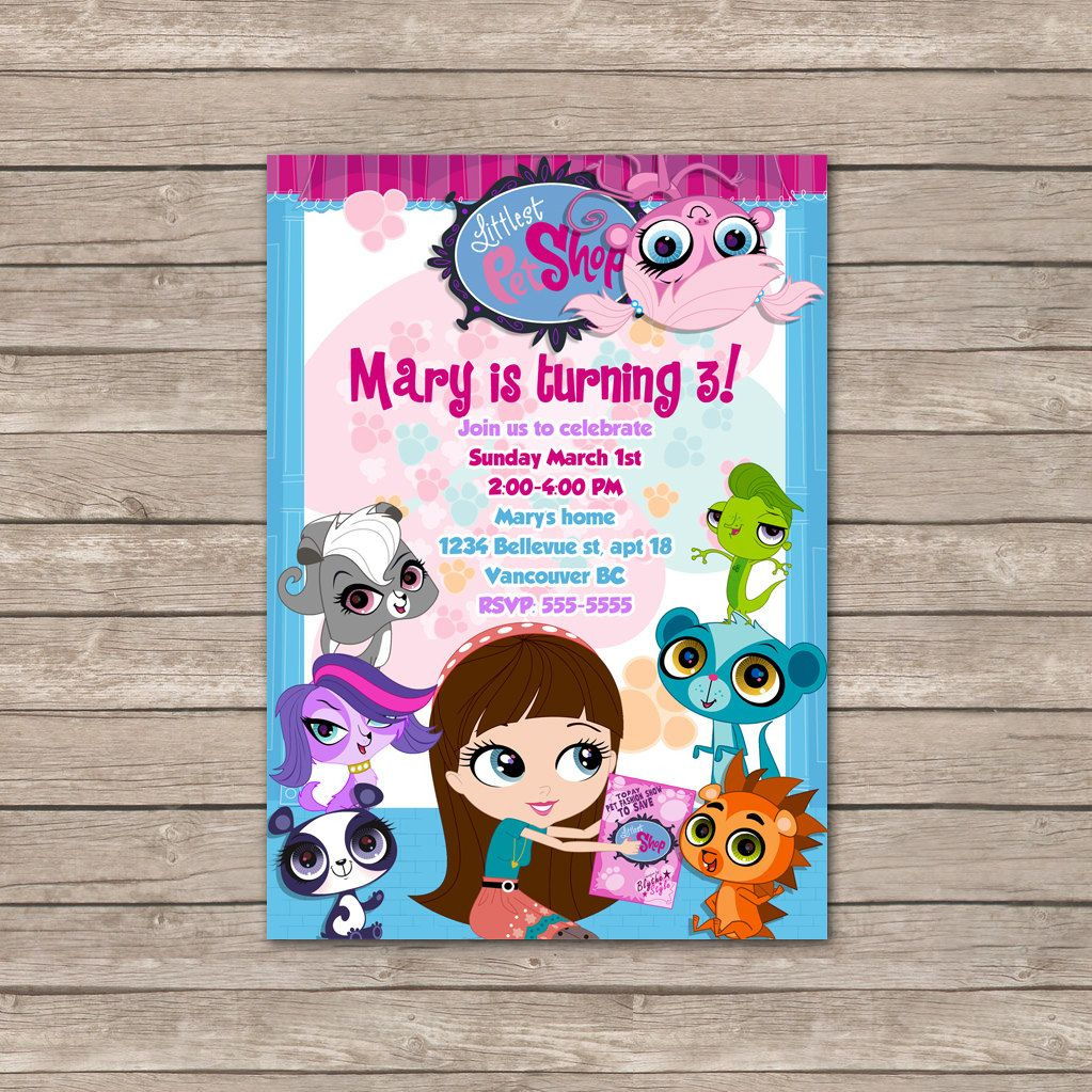 Littlest Pet Shop Birthday Invitations / by BerryliciousDesign ...