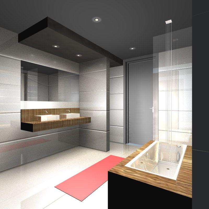 J aime bien l\'idée du faux plafond au dessus du lavabo   ID Maison ...