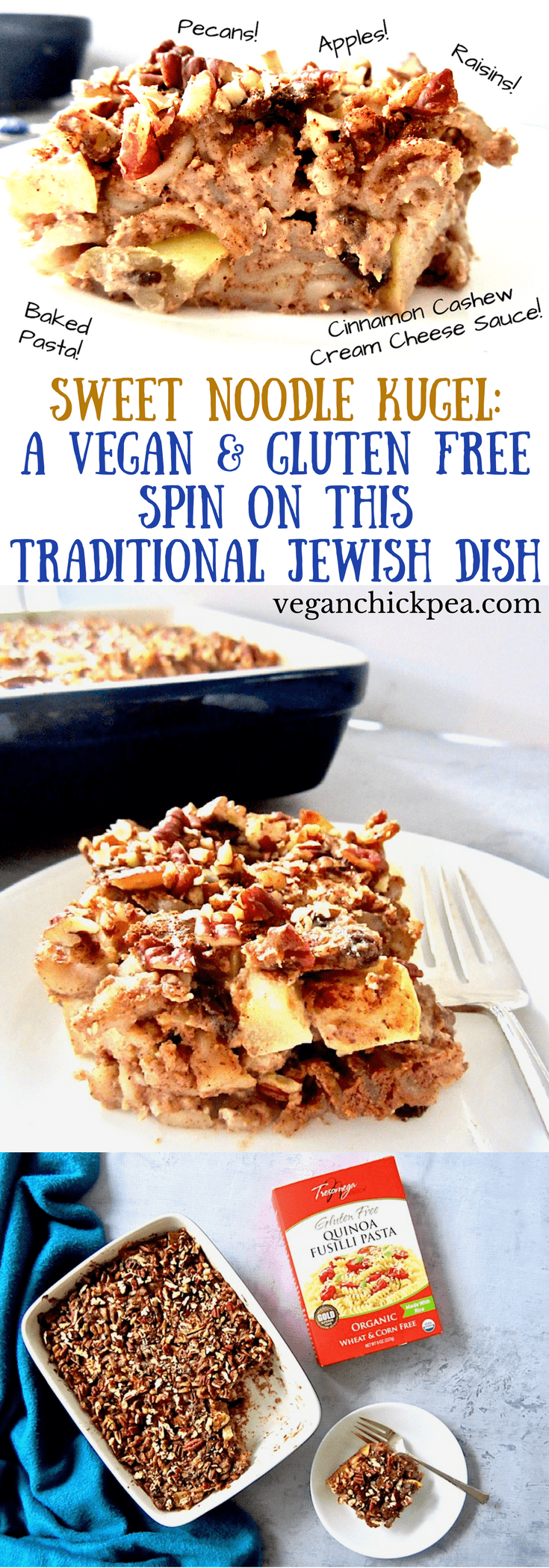 Sweet Noodle Kugel A Vegan Gluten Free Spin On This Traditional Recipe Jewish Recipes Kugel Jewish Holiday Recipes