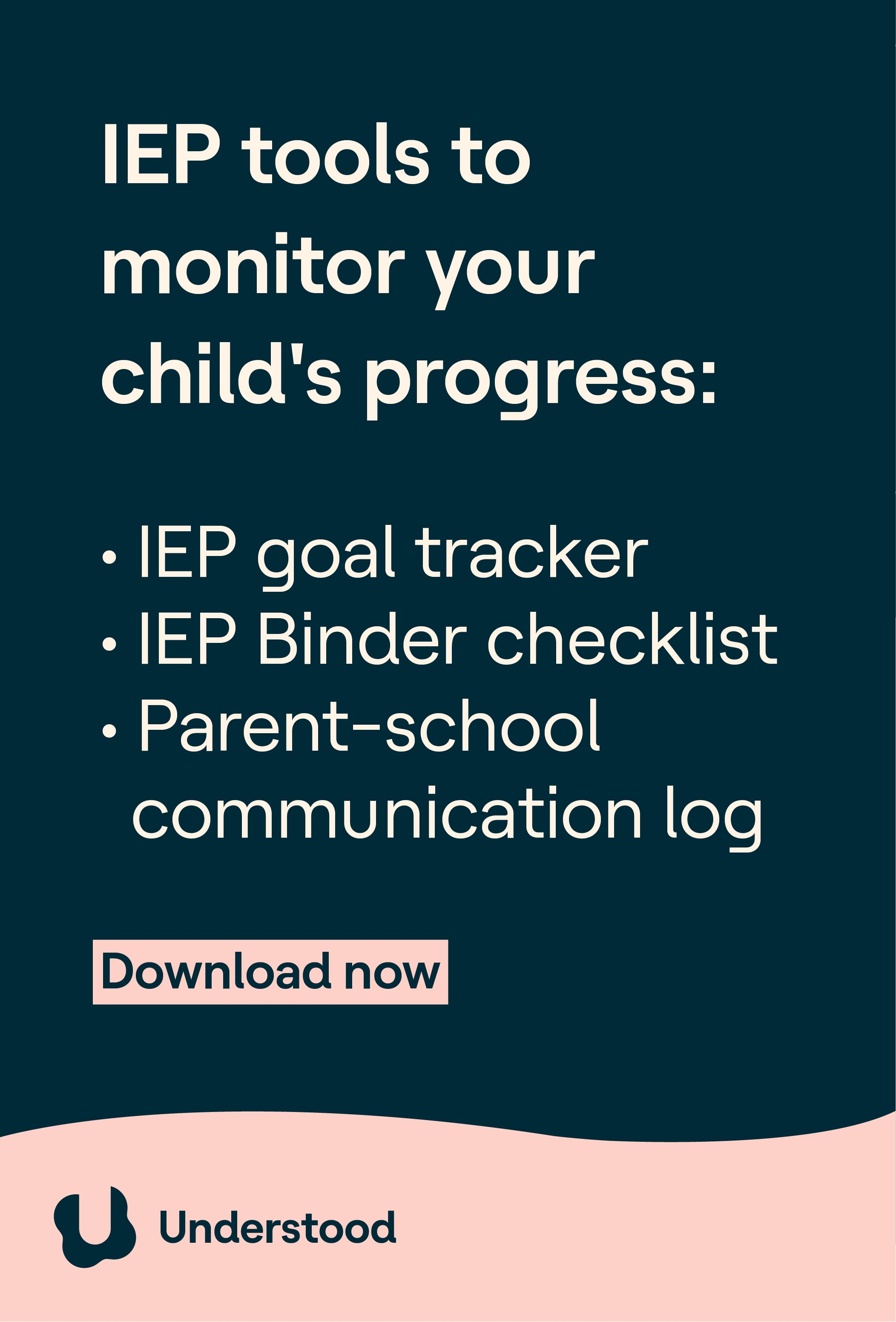 Printable Tools To Help Manage Your Child S Iep