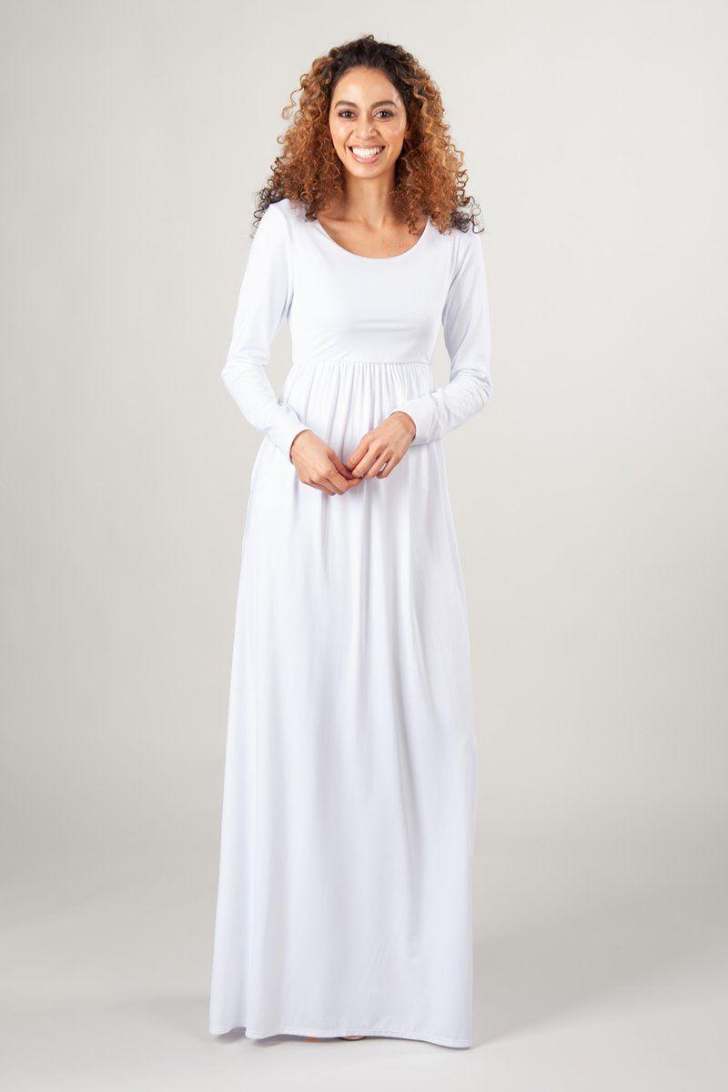 San Diego Sale Temple Dress Long White Dress Lds Temple Dress [ 1200 x 800 Pixel ]