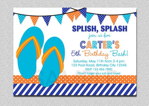 Hey, I found this really awesome Etsy listing at    wwwetsy - birthday invitation pool party