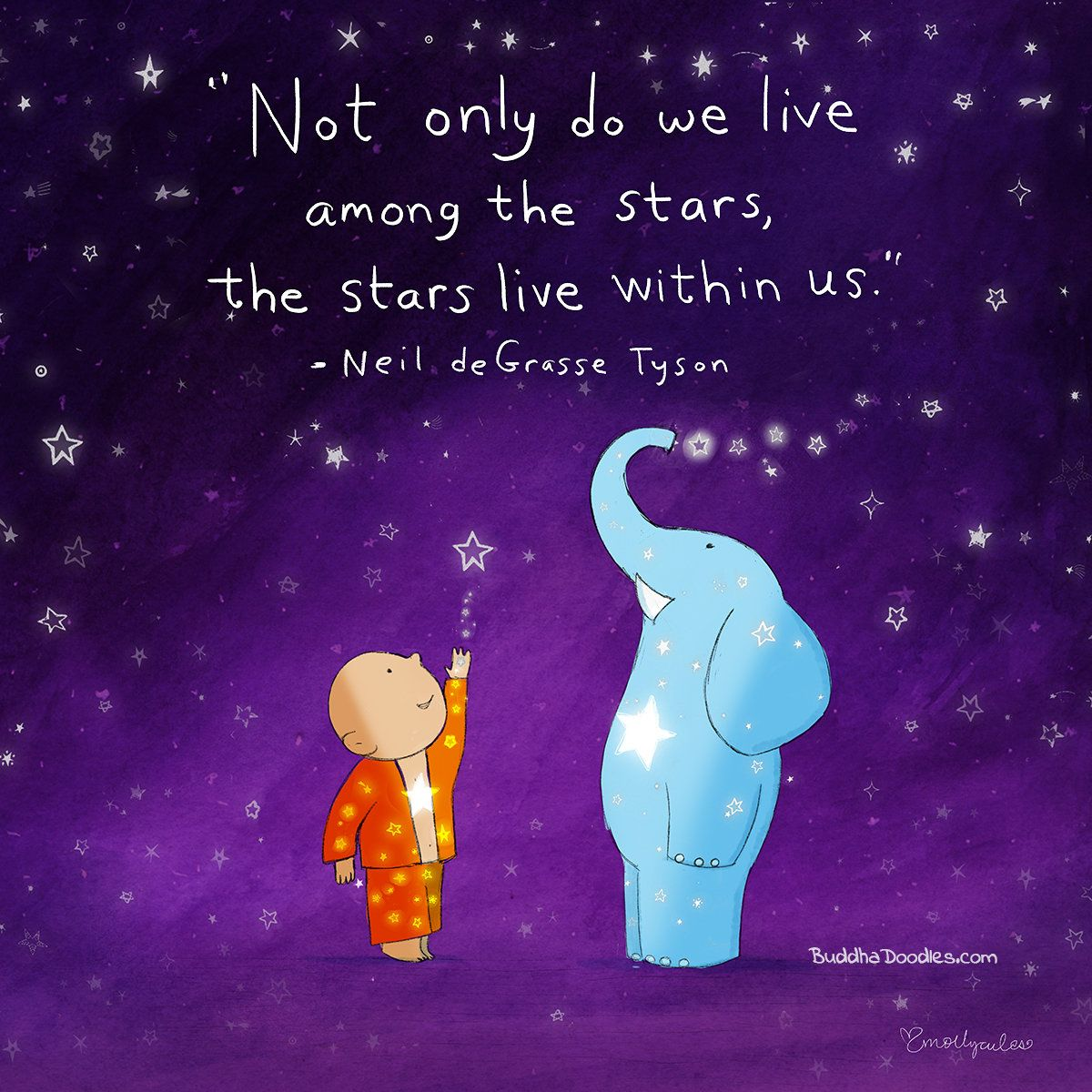 Not Only Do We Live Among The Stars The Stars Live Within Us Neil Degrasse Tyson Buddha Doodle Buddah Doodles Buddha Thoughts