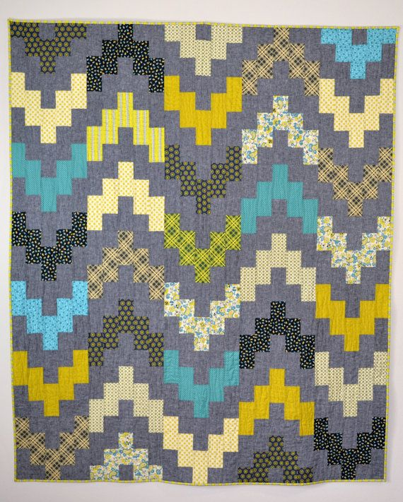 Chicopee Chevron Quilt by HalfStitched on Etsy, $275.00