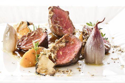 Photo of Recipe – Sliced beef, salt shallot, pumpkin and truffle …