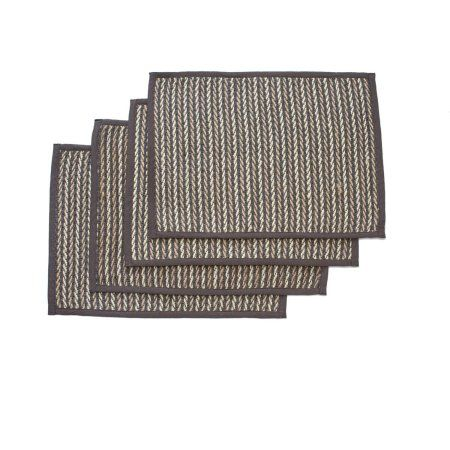 Better Homes And Garden Twisted Vine Jute Placemat Set Of 4 Grey Placemats Better Homes And Garden Placemats