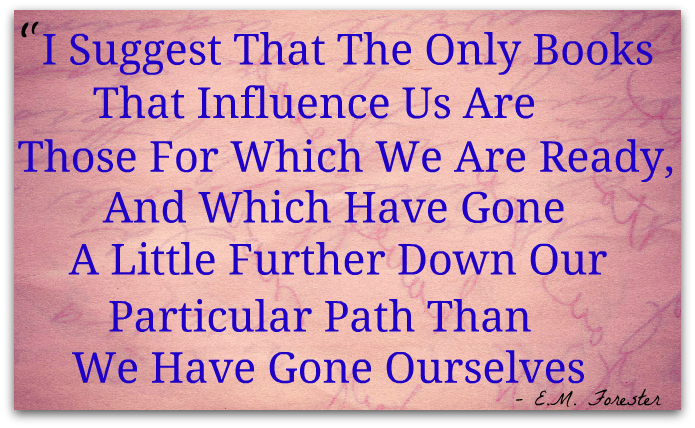 """Foresters Quick Quote Books Of Influence""""i Suggest That The Only Books That Influence Us ."""