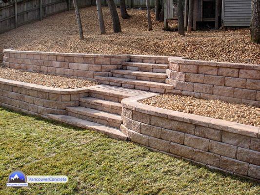 Allan Block Retaining Wall Installation Backyard Retaining Walls Landscaping Retaining Walls Garden Retaining Wall