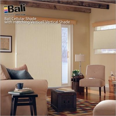Vertical Cellular Shades In Blackout Block Glare From Patio Doors