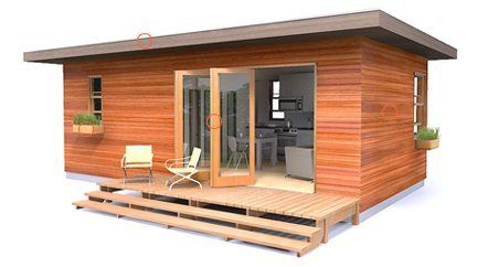 Cleverhomes mini small footprint prefab guest house for Prefab guest homes