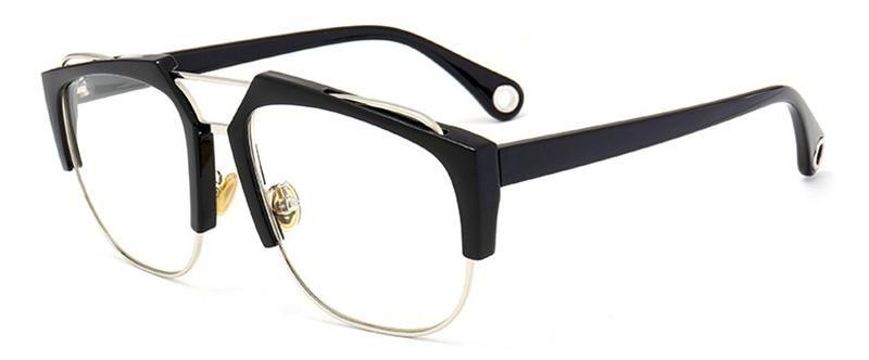32ed1e83169 SHAUNA Newest Half Frame Women Square Sunglasses Brand Designer Oversize  Men Clear Lens Glasses Frame UV400