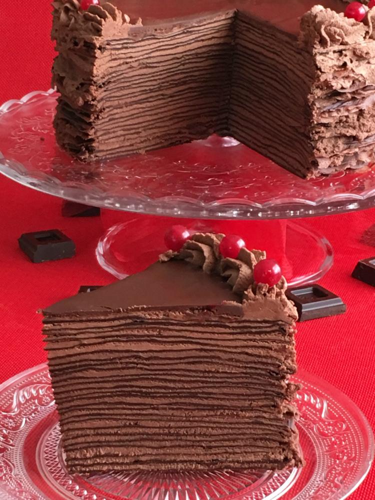 Como He Puesto La Cocina Crepes De Chocolate Panqueques De Chocolate Torta Panqueque Chocolate