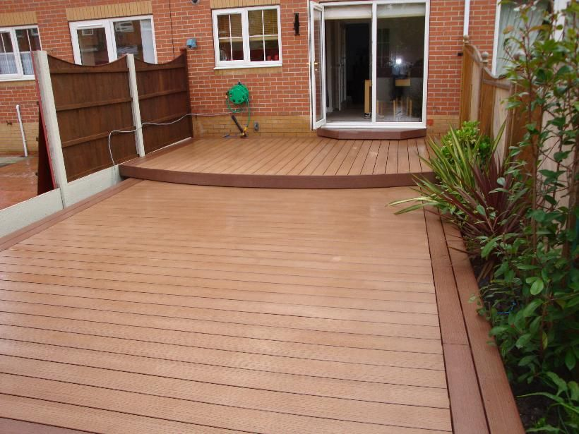 Greater StrengthLow Maintenance Outdoor WPC Solid Decking Wholesale Composite Deck