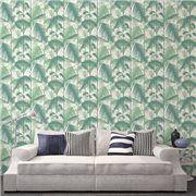 Papier peint vert inspiration tropicale Palm Jungle - Cole and Son - Au fil des Couleurs