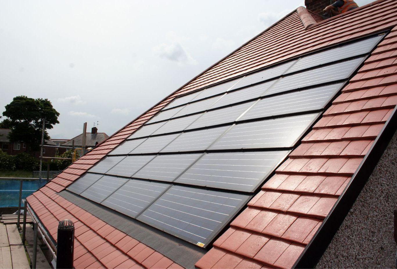 Inset Solar Tiles Solar Panel On Roof Detail Www