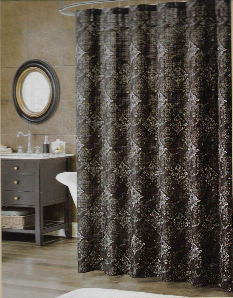 Bombay Eaton Earth Fabric Shower Curtain 70 X 71 178cm X 180cm