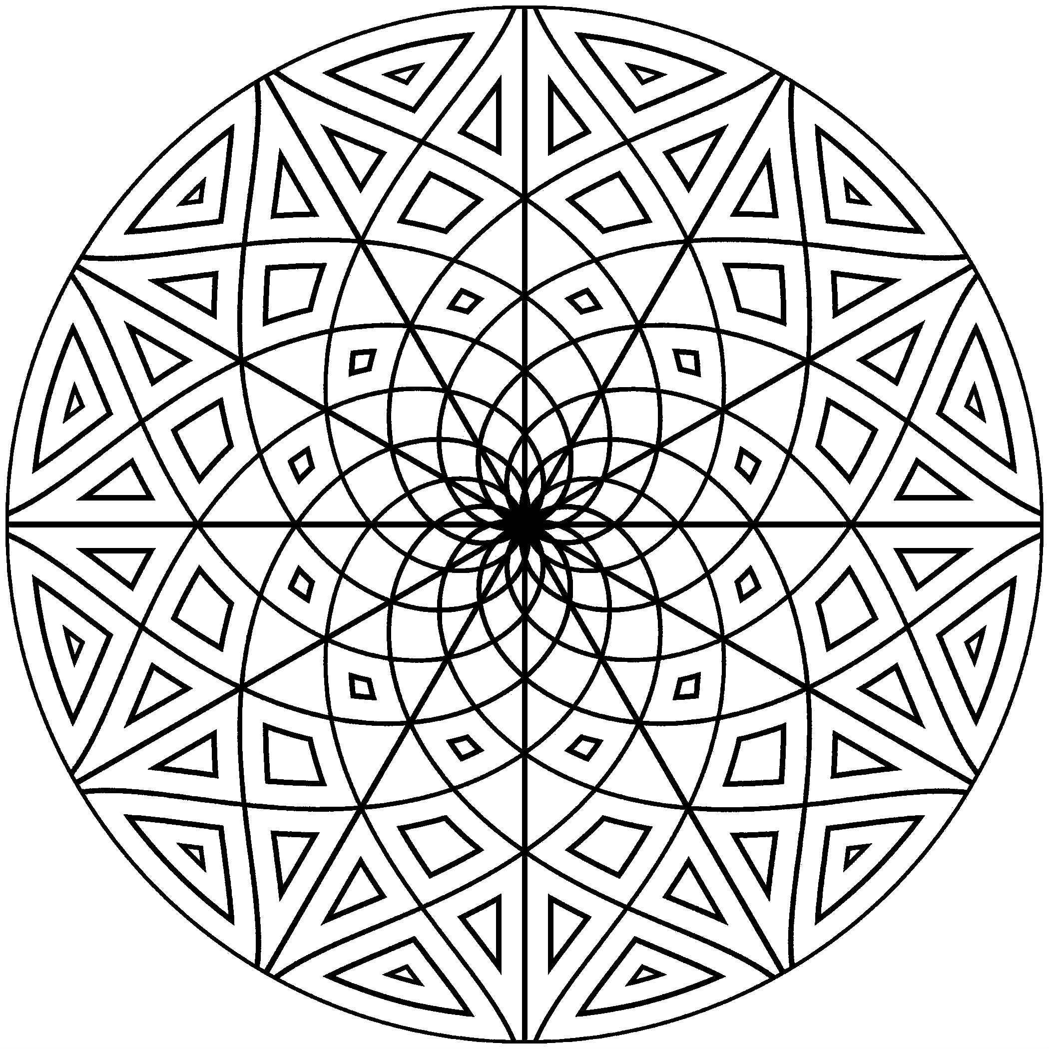 Mandalas Hard Coloring Pages For Kids Fno Printable Mandalas Coloring Pages For Kids Geometri Wallpaper Iphone